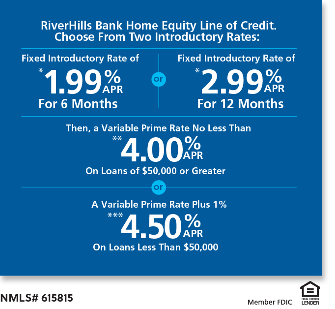 Choose between Two Introductory Rates: 1.99%APR for 6 months or 2.99% for 12 months